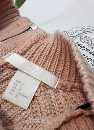 Сильный пудровый свитер с молнией на спине от h&m7 фото