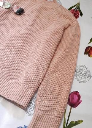 Сильный пудровый свитер с молнией на спине от h&m8 фото