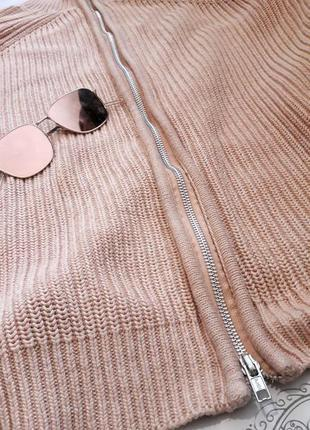 Сильный пудровый свитер с молнией на спине от h&m9 фото