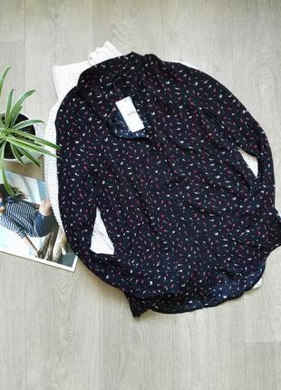 Блуза в цветочный принт из вискозы