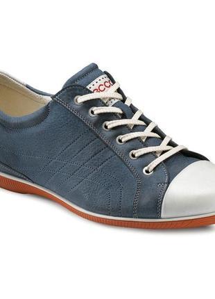 Кожаные мягкие кеды, туфли ecco notice р. 39-40 (25,5 см)