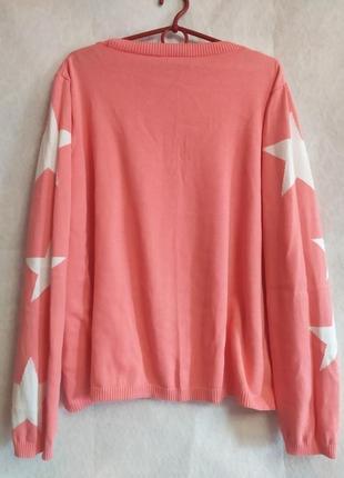 ❤️скидка❤️с 20.03 по 1.04❤️яркий стильный свитер большого размера в звёздах от m&s4 фото