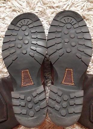 Брендовые кожаные сапоги,деми,5 фото