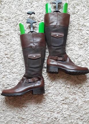 Брендовые кожаные сапоги,деми,8 фото