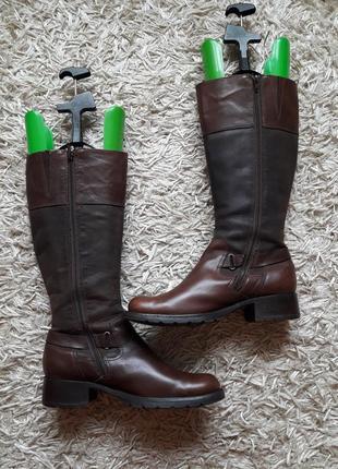 Брендовые кожаные сапоги,деми,9 фото