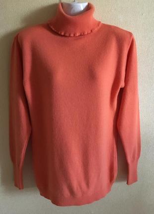 Шерстяной свитер с высоким горлом marella tricot