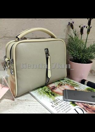 Женская сумка через плечо / клатч eteralsmile hx130 beige/gray