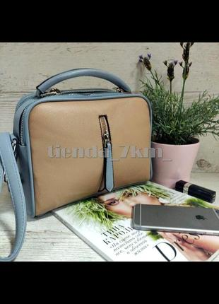 Женская сумка через плечо / клатч eteralsmile hx130 blue/pink