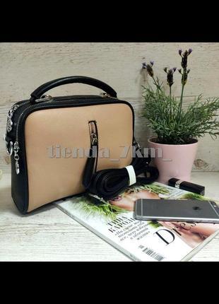 Женская сумка через плечо / клатч eteralsmile hx130 black/pink