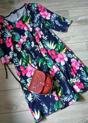 Яркое красивое платье 👗 большой размер батал