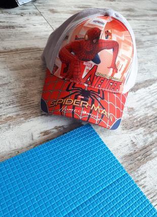 Яркая стильная легкая кепка блейзер спайдермен на об головы 50-53см