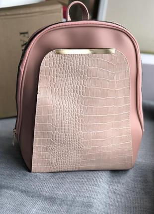 Розовый новый рюкзак
