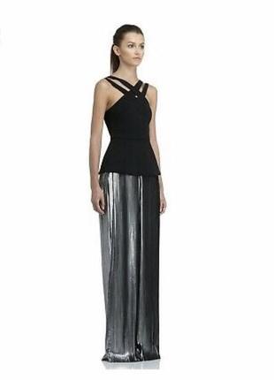 Изысканное вечернее платье с баской