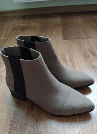 Ботинки челси сапоги ботильоны кожа замш
