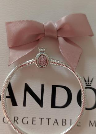 16 , браслет с короной , стандартный, размер 16, оригинал пандора , pandora