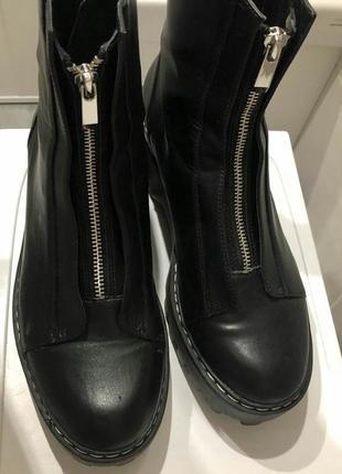 Новые ботинки zara кожа