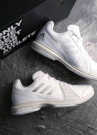 Adidas оригинал р39 белые с серебристым кроссовки
