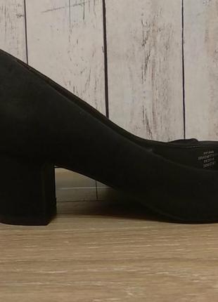 Туфли черные замшевые, р39
