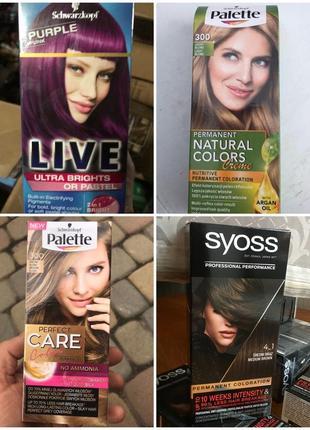 Syoss краска для волос коричневый, блонд, фиолетовый palette опт