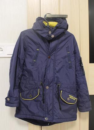 Куртка  парка  на  флісі р. 122-128