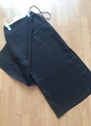 Оригинального дизайна льняная юбка . италия 🇮🇹