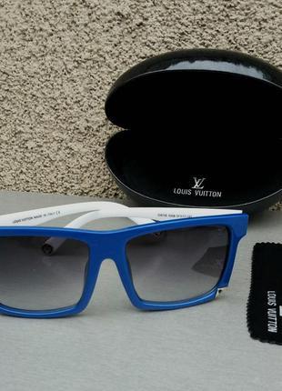 Louis vuitton очки женские солнцезащитные в белой синей оправе