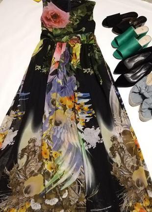 Очень красивое яркое платье в пол