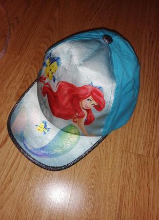 Кепка на девочку бейсболка с русалкой блёстками ариель