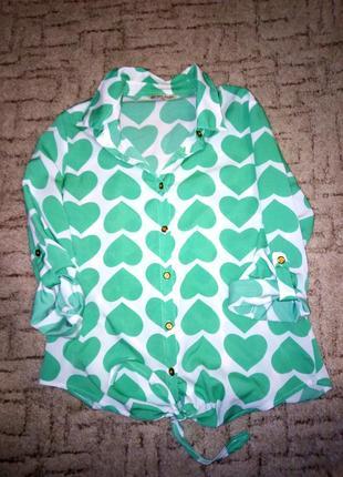 Яркая блуза, кофта, рубашка