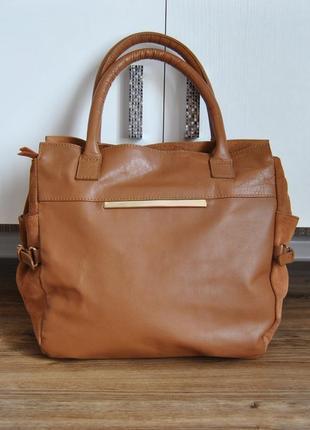 Кожаная сумка laura clement / шкіряна сумка