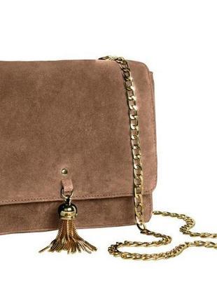 Женская замшевая сумка кроссбоди esmara