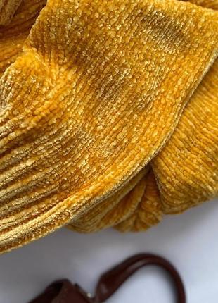Лимонный велюровый свитер george2 фото