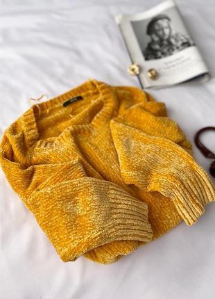 Лимонный велюровый свитер george3 фото