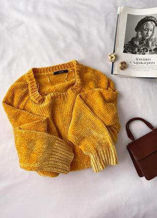 Лимонный велюровый свитер george4 фото