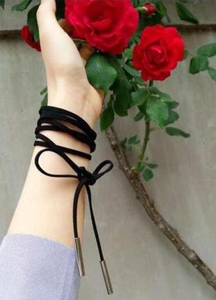 Замшевый шнур шнурок браслет на руку