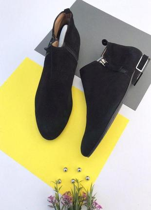 Итальянские замшевые ботинки evaluna