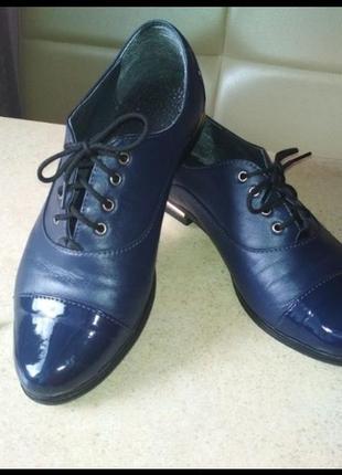 Класнючие кожанные туфли р.37