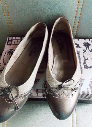 """Супер-удобные туфли-лодочки в стиле casual """"donna carolina"""" италия - кожа/ткань 38"""