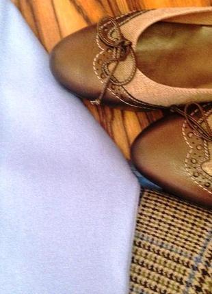 """Туфли-лодочки в стиле кежуал """"donna carolina""""- италия - кожа/ткань - 38"""