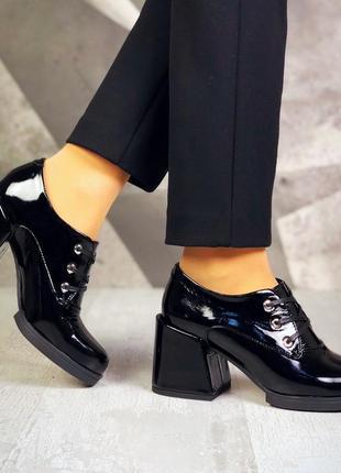 Рр 36-40 натуральная кожа стильные туфли на небольшом интересном каблуке