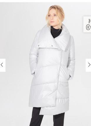 Пальто одеяло пуффер куртка mohito р.38 серебристая