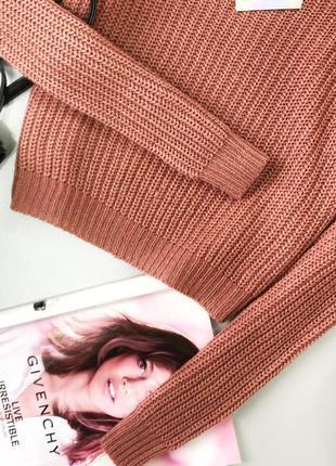 Оверсайз свитер с открытыми плечами missguided7 фото