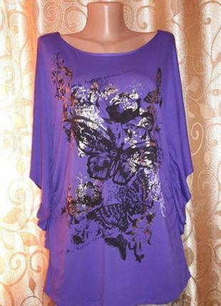 🌺🦋🌺красивая женская трикотажная футболка, блузка батального размера jane norman🔥🔥🔥