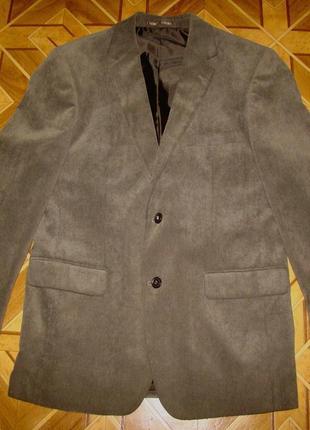 Стильный вельветовый (микровельвет )мужской пиджак (жакет) canda c&a р.48