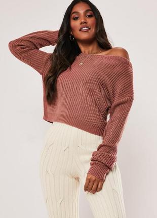 Оверсайз свитер с открытыми плечами missguided2 фото