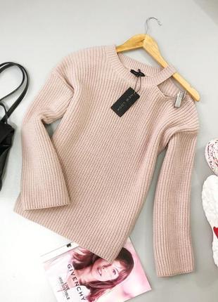 Нежный свитер с вырезом на плече new look4 фото