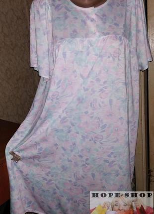 💞очаровательное домашнее нежное платье -футболка,ночная рубашка,сорочка 52/54