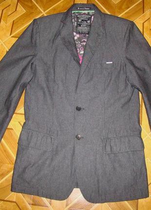 Стильный мужской котоновый пиджак silver creek р.м