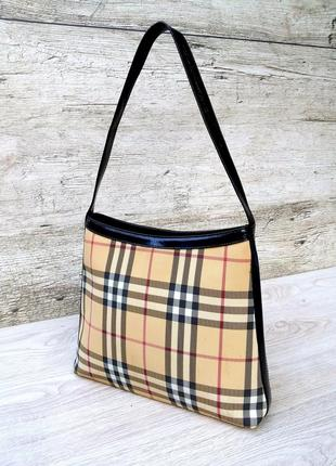 Burberry оригинальная сумка  london plaid vinyl classic shoulder hobo