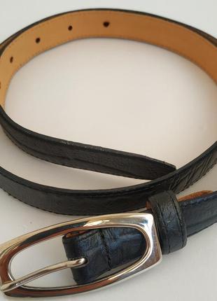 Кожаный пояс marks& spencer с металлической пряжкой